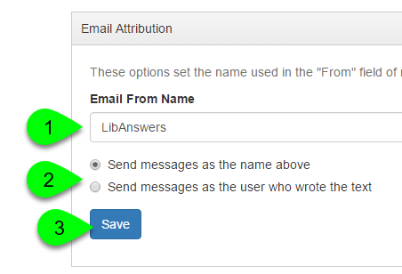 Example of customizing the email attribution