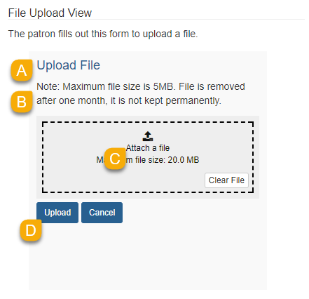 Example of the File Upload View