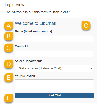 Example of the Login View