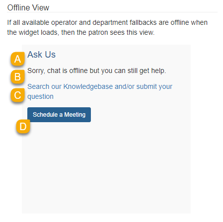 Example of the Offline View