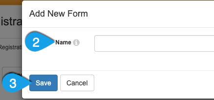 Example of adding a new form