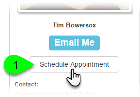 How to create and use an Appointments scheduler widget - Help Center