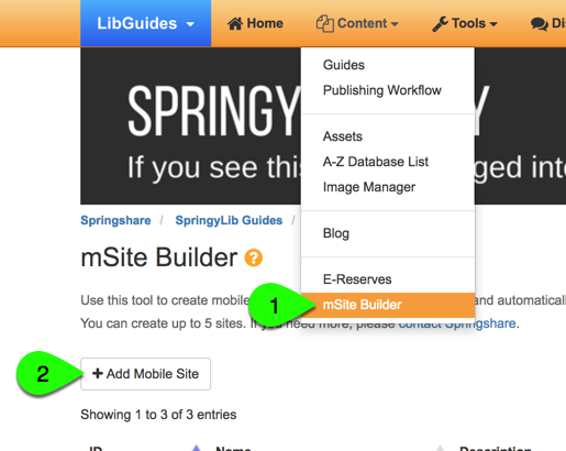 creating a new mobile site, part 1