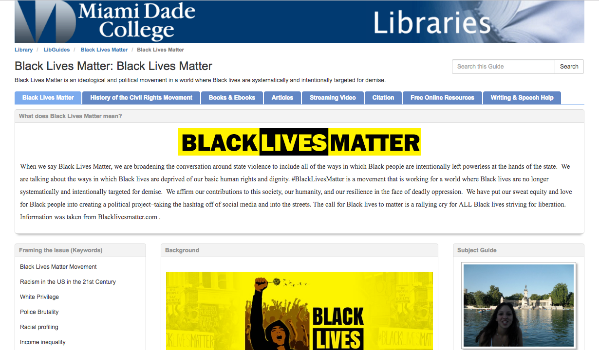 Black Lives Matter Guide Screenshot