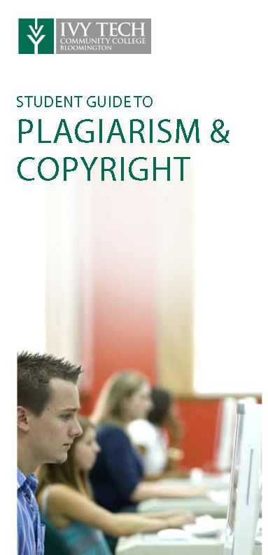 Cover of Student Guide to Plagiarism & Copyright