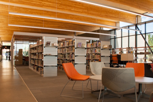 Interior view of new Kingman Campus Library looking northeast