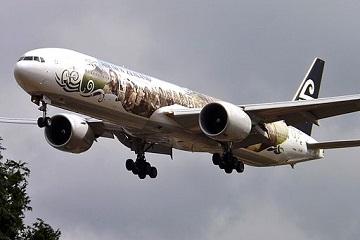 http://commons.wikimedia.org/wiki/File:ZK-OKP_Boeing_777_Air_New_Zealand_Hobbit_(9489403460).jpg