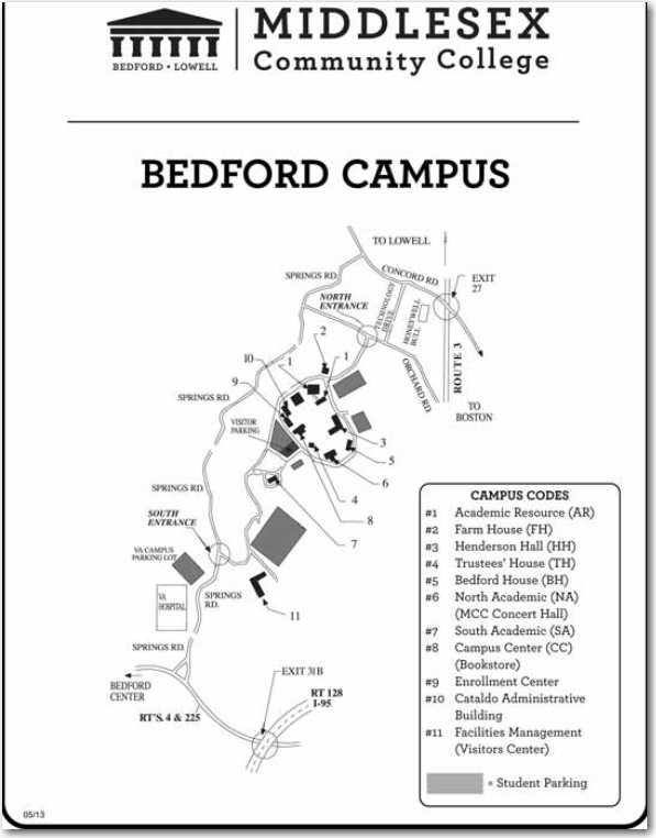 bedford campus map
