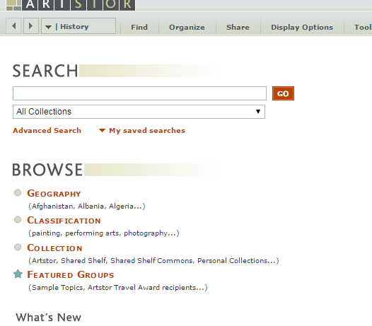 Artstor search