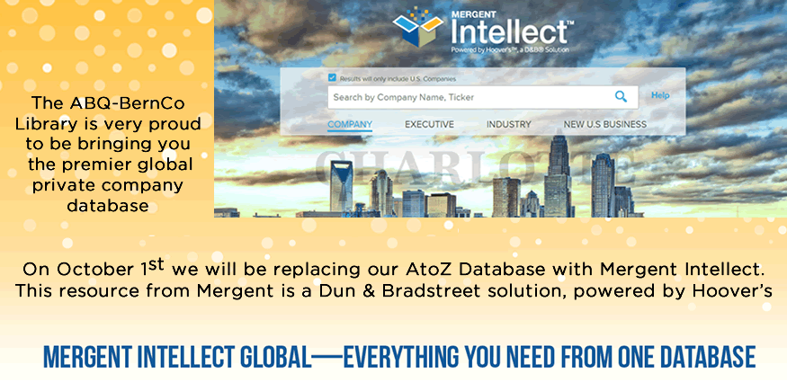 Mergent Intellect announcement