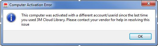 Computer Activation Error message