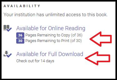 ebrary availability options