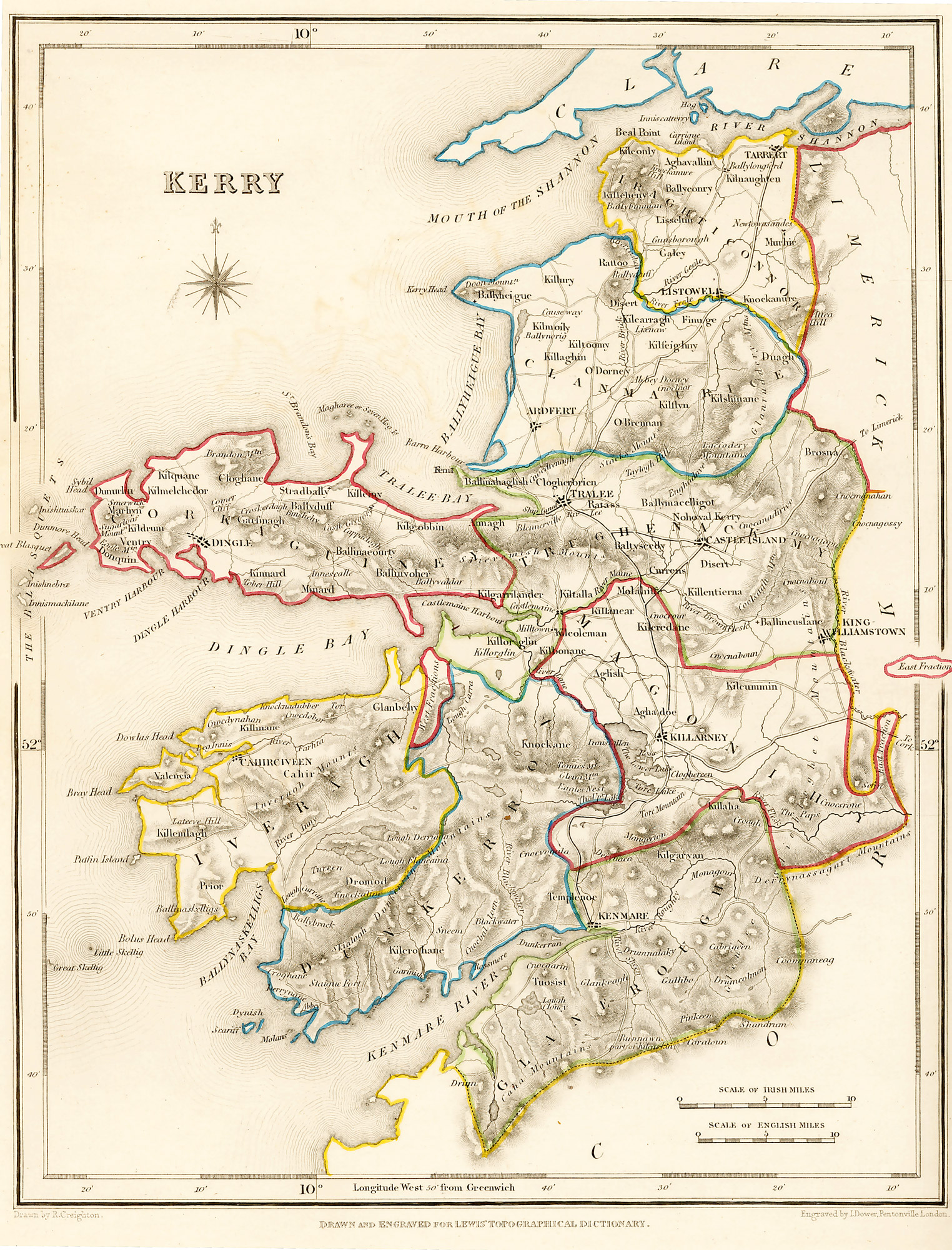 Map Of Ireland With County Borders.Historic Maps All Island Ireland Map Collections At Ucd And On