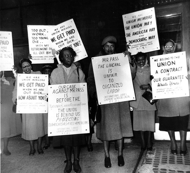 African American women picket for unionization,  Some rights reserved, Kheel Center, https://www.flickr.com/photos/kheelcenter/