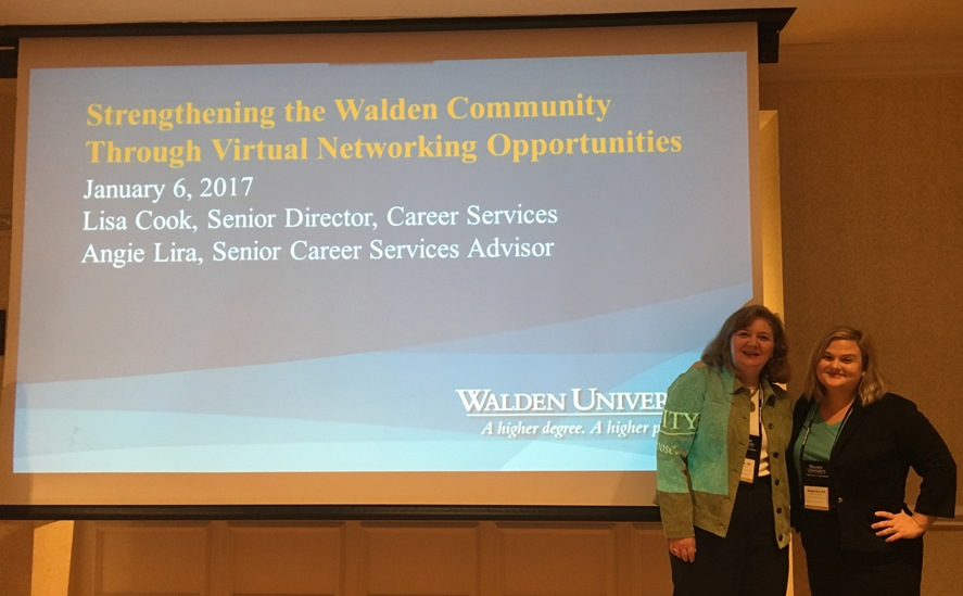 Career Services staff presenting at National Faculty Meeting