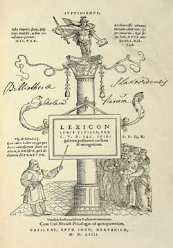 Lexicon juris civilis, 1554