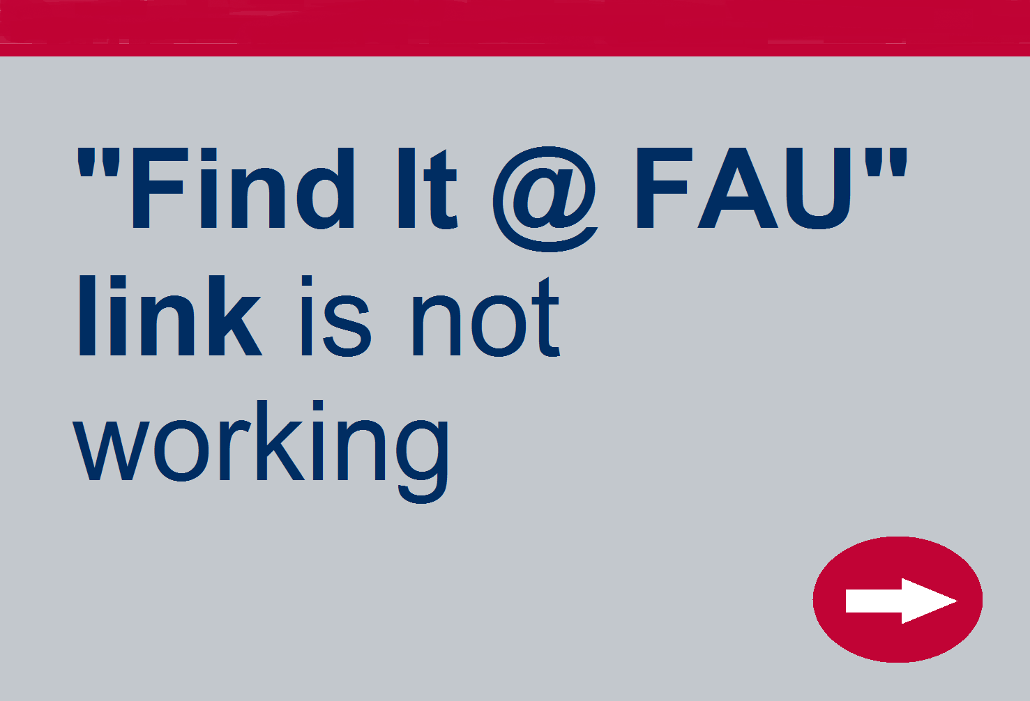 Find it at FAU link is not working