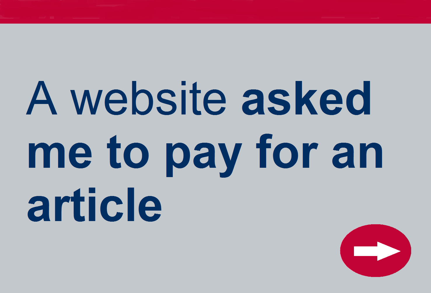 Website asked me to pay for an article