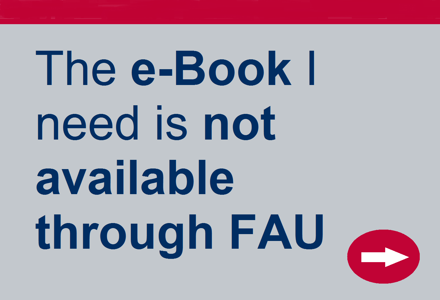 E-Book is not available through FAU