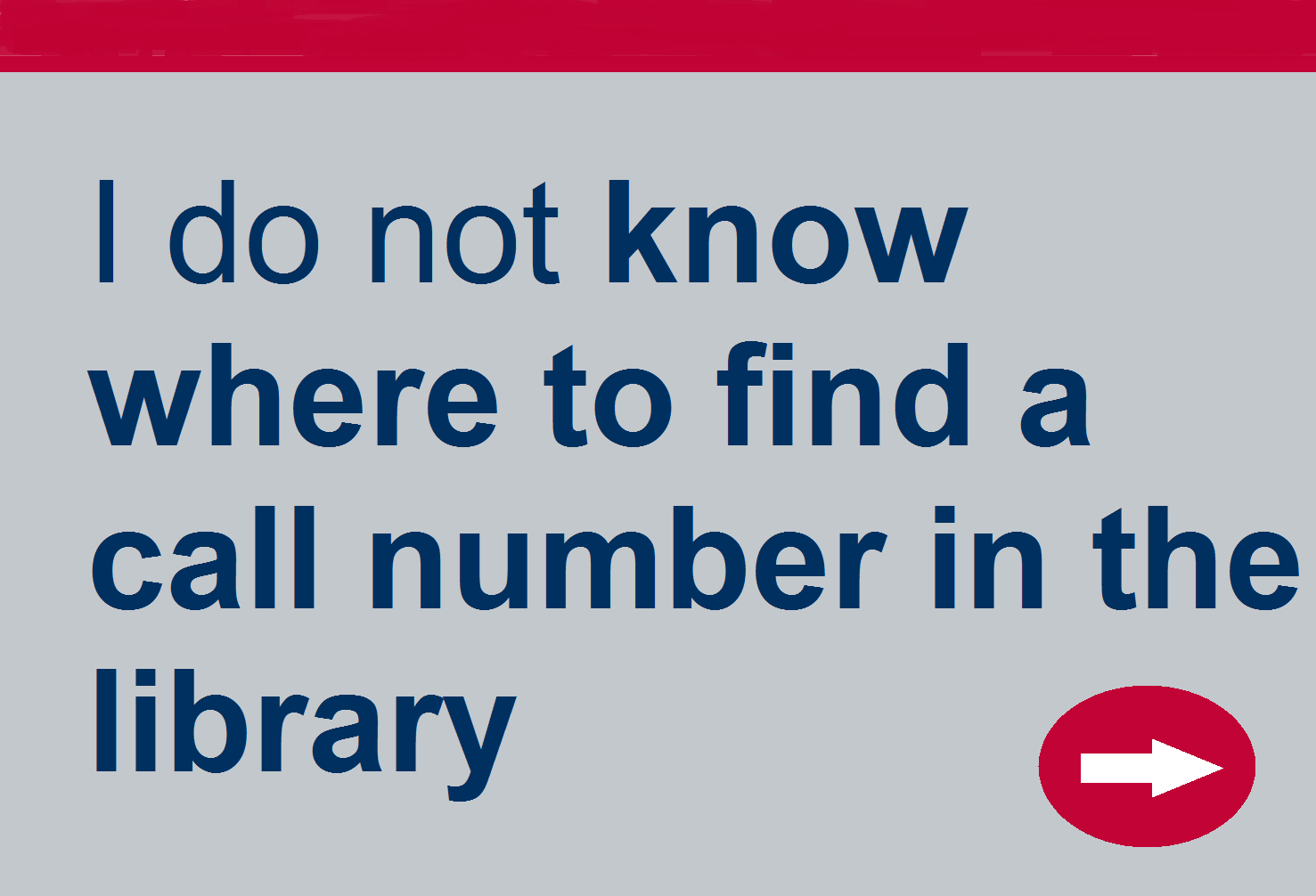 Need to know where to find a call number in the library