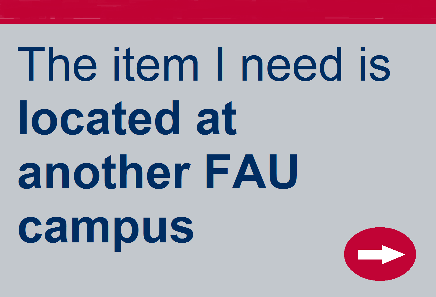 Item I need is located at another FAU campus