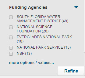 Funding Agencies Web of Science Feature