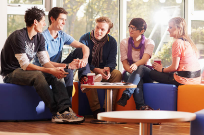 Image of students chatting