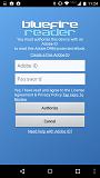 Bluefire login screen