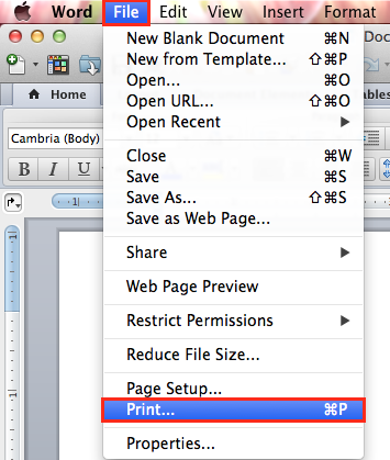 How do I print multiple pages in one page in Word?