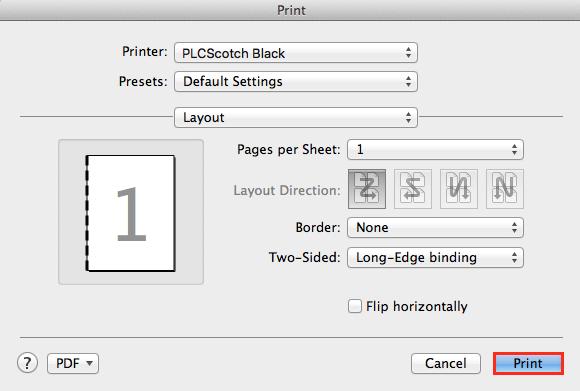 print double sided mac word 2008