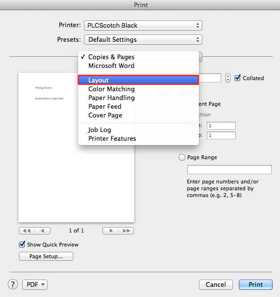 Steps to Print Two Pages Per Sheet on Mac