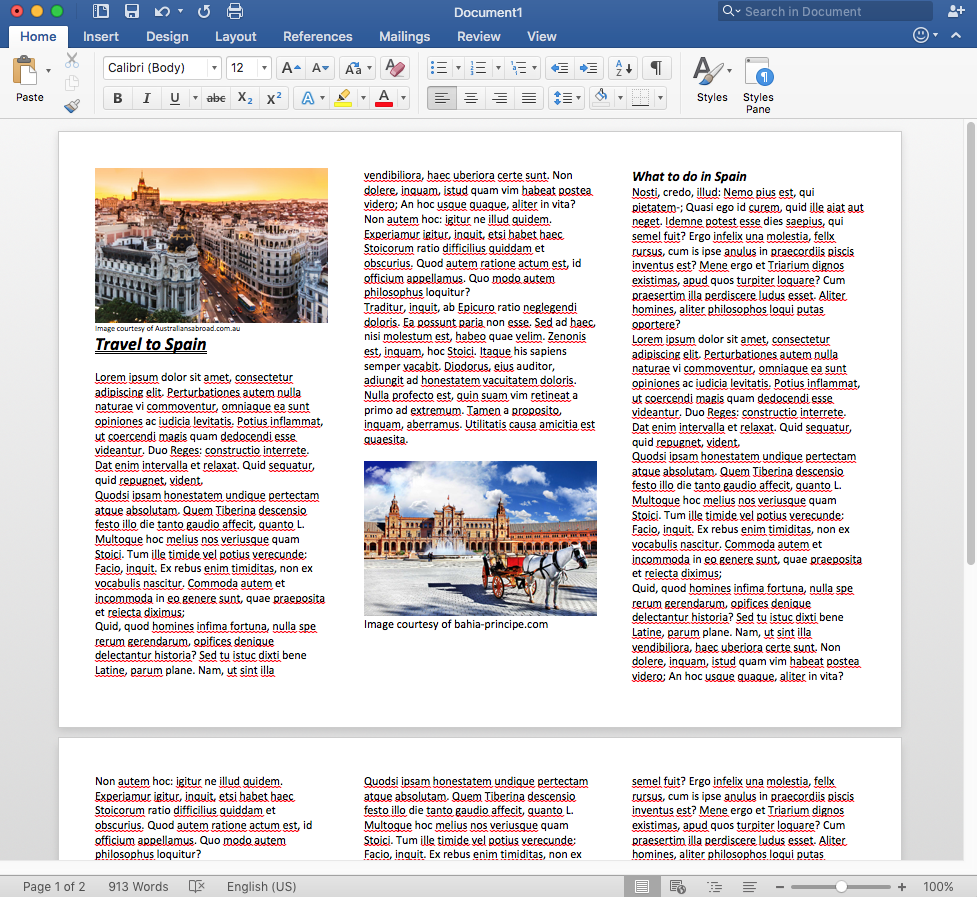 how do i make a trifold brochure in word