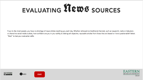 Evaluating News screenshot