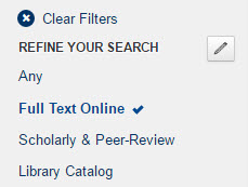 Full Text Online facet in OneSearch