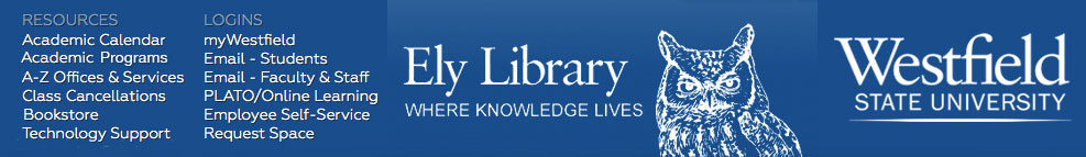 Banner for Ely Library at Westfield State University