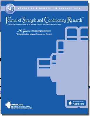 Journal of Strength & Conditioning Research cover