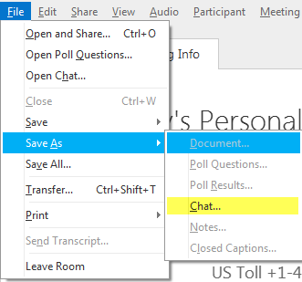 WebEx: Can you send the chat transcript via email? - Answers