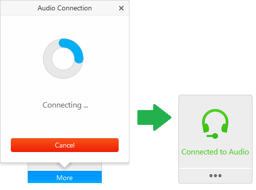 WebEx: I can't hear anything! How do I connect to the audio