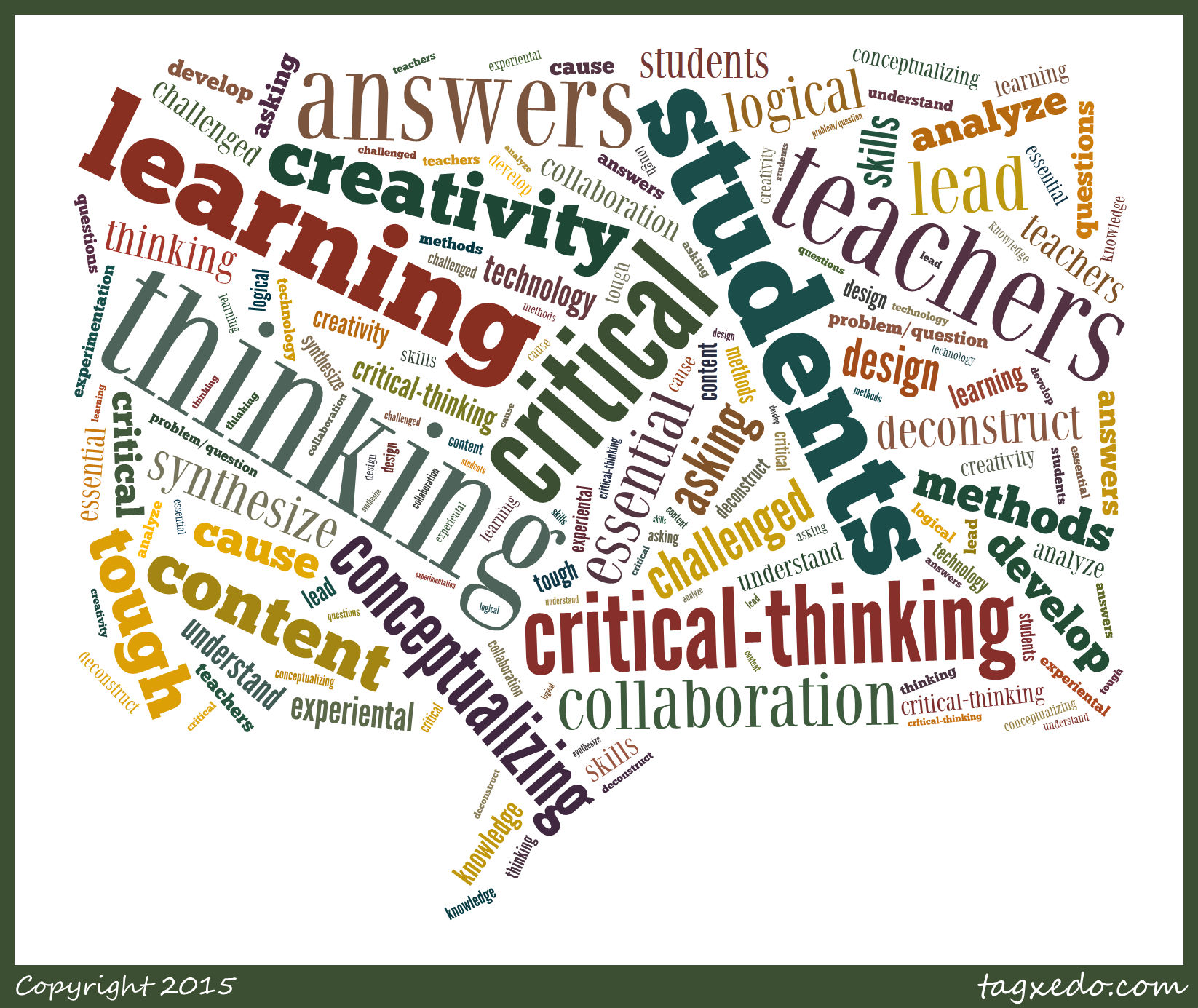 Critical thinking application paper subjects