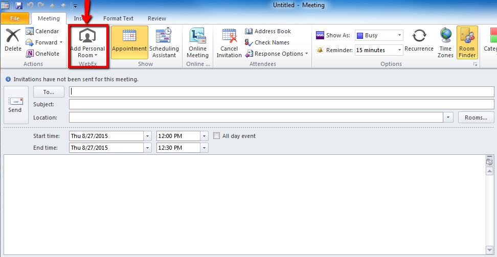 How Do I Use Webex Productivitiy Tools In Outlook Answers