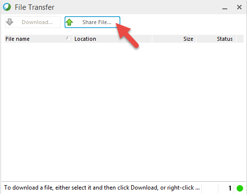 WebEx: What about sharing files to make them available for download