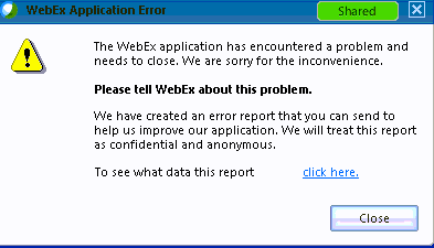 WebEx and AVG Antivirus Error - Answers