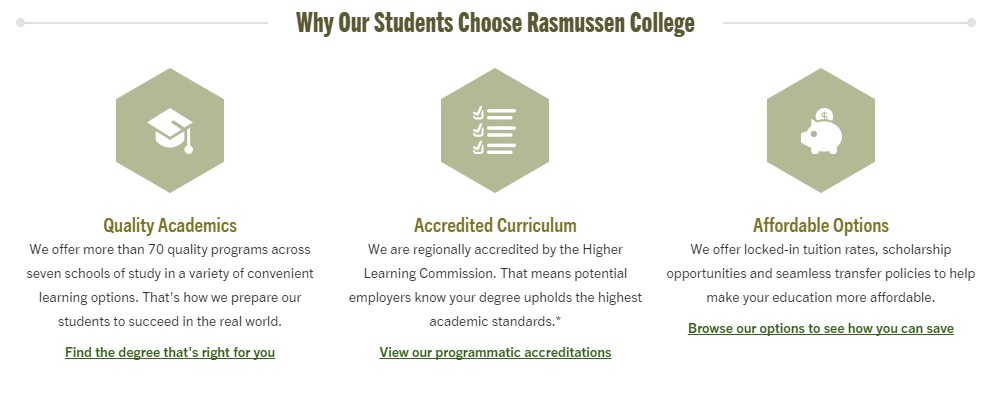 Why Students Choose Rasmussen College