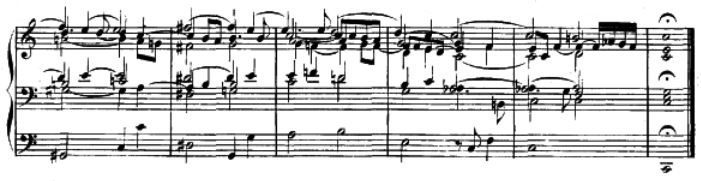 Final measures of J.S. Bach's Adagio from BWV 564.