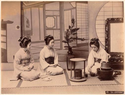 Japan 19th century tea ceremony