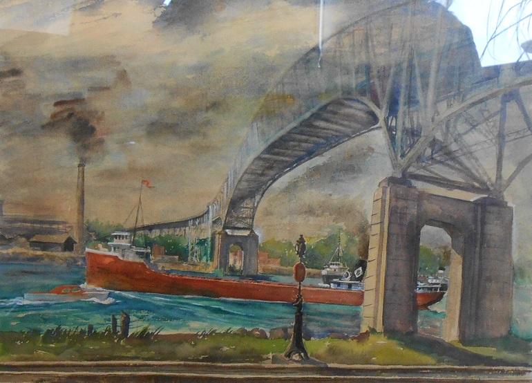Vinnorma Shaw Mckenzie, Boat Passing Under Bridge