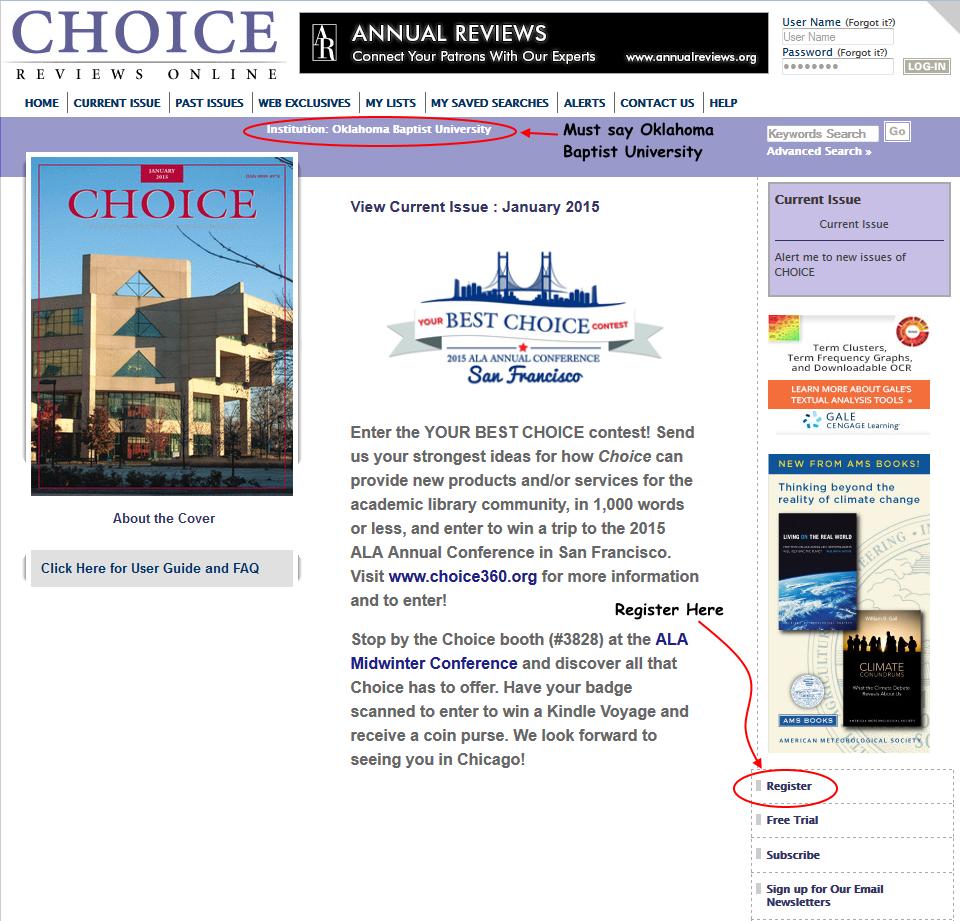 screenshot of Choice Reviews Online
