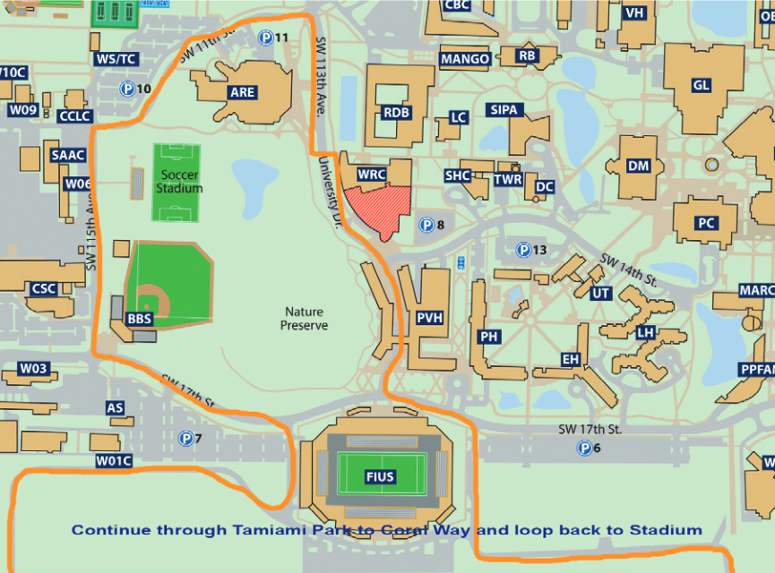 Fiu Mmc Map Fiu Mmc Campus Map Pdf | Map Of Us Western States