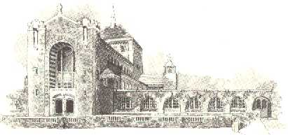 Drawing of the CSS Chapel and Library Building