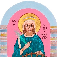 Image of St. Catherine of Alexandria from Charter